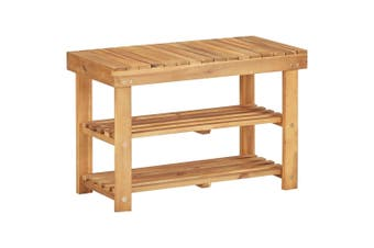 Shoe Rack 70x32x46 cm Solid Acacia Wood