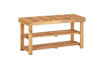 Shoe Rack 90x32x46 cm Solid Acacia Wood