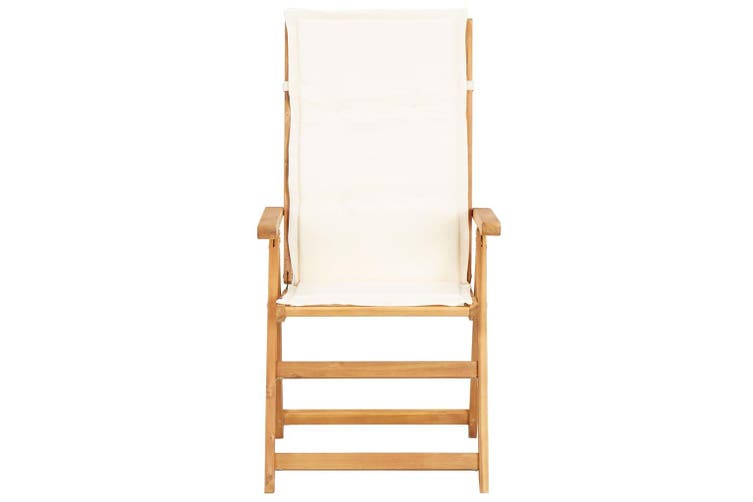 Reclining Garden Chairs 2 pcs Brown Solid Acacia Wood