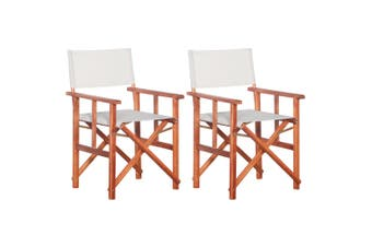 Director's Chairs 2 pcs Solid Acacia Wood