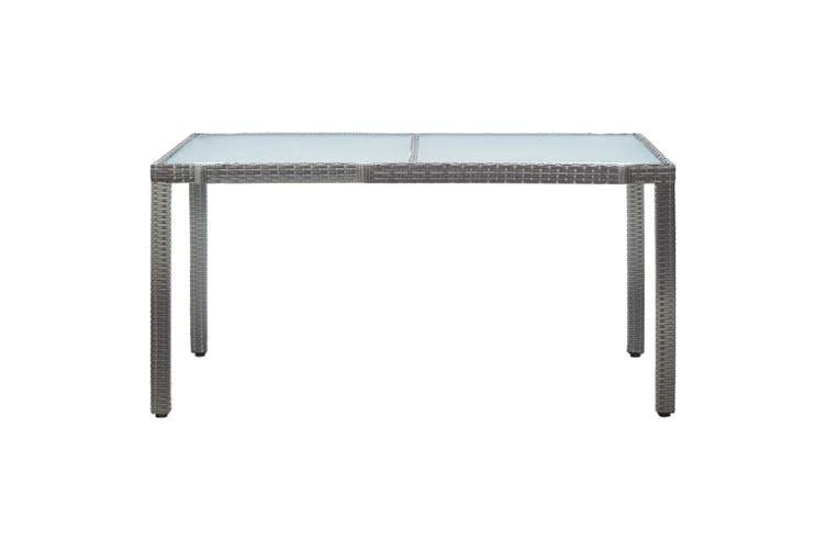 Garden Table Grey 150x90x75 cm Poly Rattan