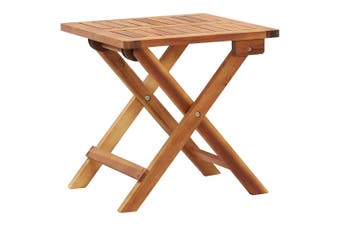 Folding Garden Coffee Table 40x40x40 cm Solid Acacia Wood