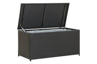 Garden Storage Box Poly Rattan 100x50x50 cm Black