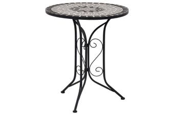 Mosaic Bistro Table Grey 61cm Ceramic