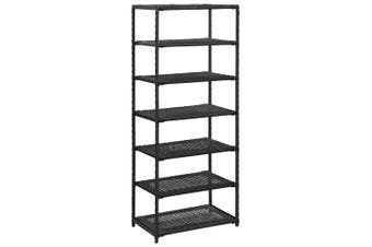 Shoe Rack Black 50x30x120 cm Poly Rattan