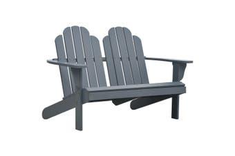 Double Adirondack Chair Wood Grey
