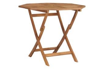 Folding Garden Table 85x85x76 cm Solid Teak Wood