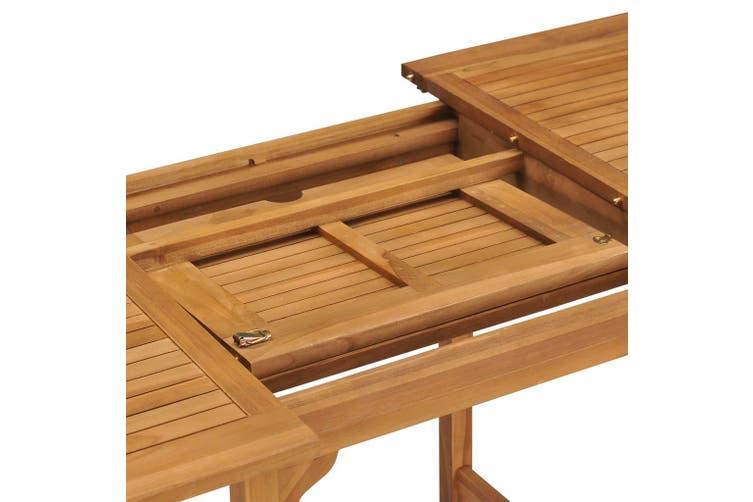 Extending Garden Table (110-160)x80x75cm Solid Teak Wood