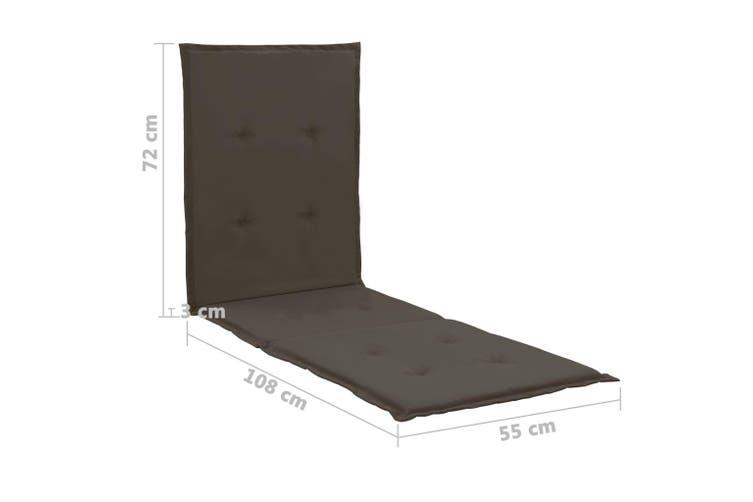 Lounge Chair Cushion Anthracite 180x55x3 cm