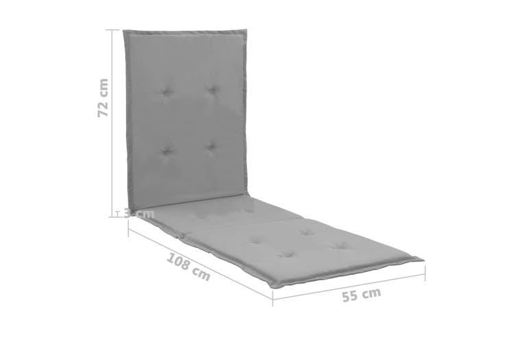 Lounge Chair Cushion Grey 180x55x3 cm