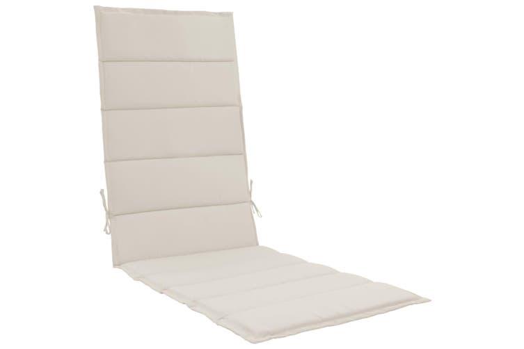 Sunlounger Cushion Cream 190x60x3 cm