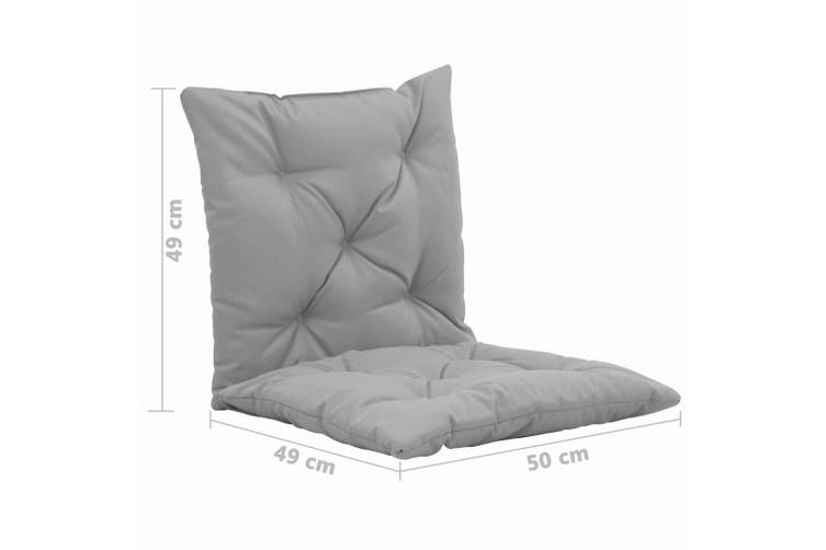 Swing Chair Cushions 2 pcs Grey 50 cm
