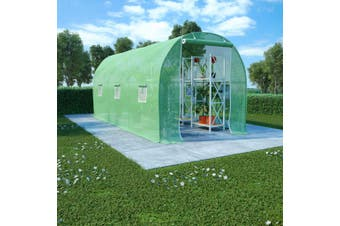 Greenhouse with Steel Foundation 9 m? 4.5x2x2 m