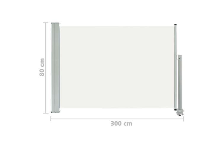 Patio Retractable Side Awning 80x300 cm Cream