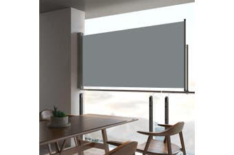 Patio Retractable Side Awning 80x300 cm Grey