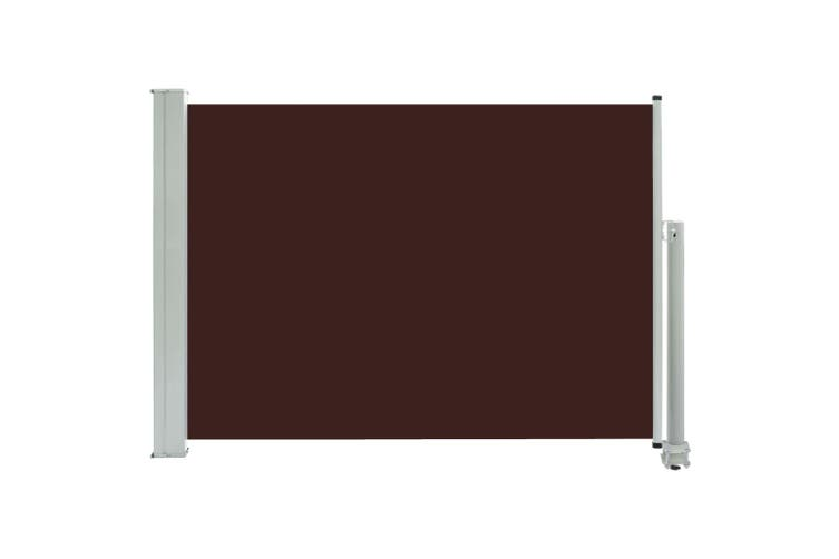 Patio Retractable Side Awning 80x300 cm Brown