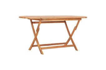 Folding Garden Table 160x80x75 cm Solid Teak Wood