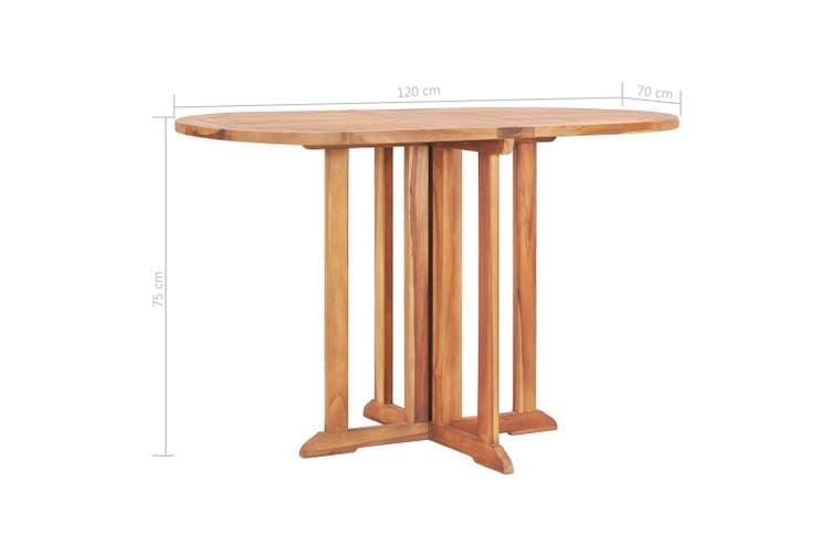 Folding Butterfly Garden Table 120x70x75 cm Solid Teak Wood