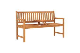 3-Seater Garden Bench with Table 150 cm Solid Teak Wood