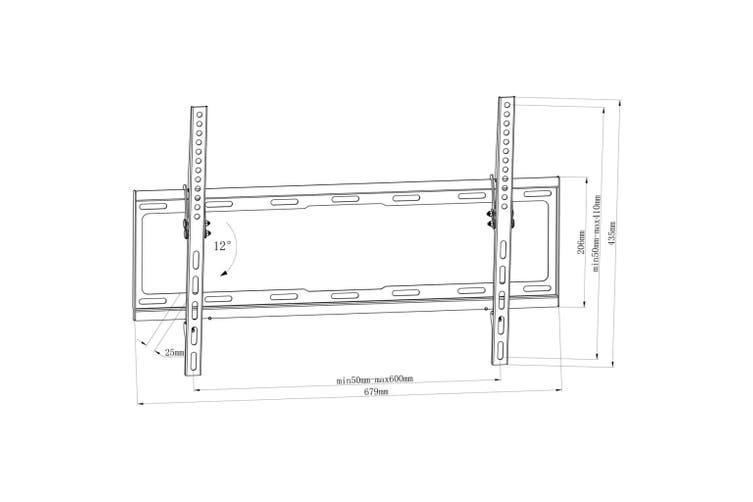 """Tilt Wall Mounted TV Bracket 600 x 400 mm 32"""" - 70"""""""