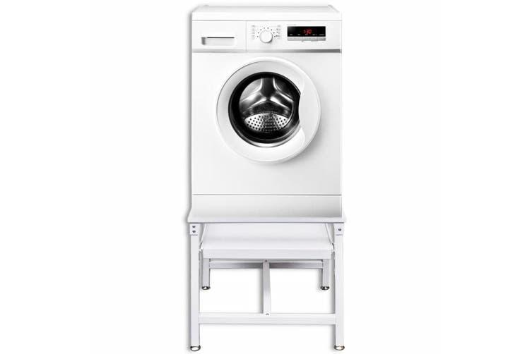 Washing Machine Pedestal with Pull-Out Shelf White - Matt ...