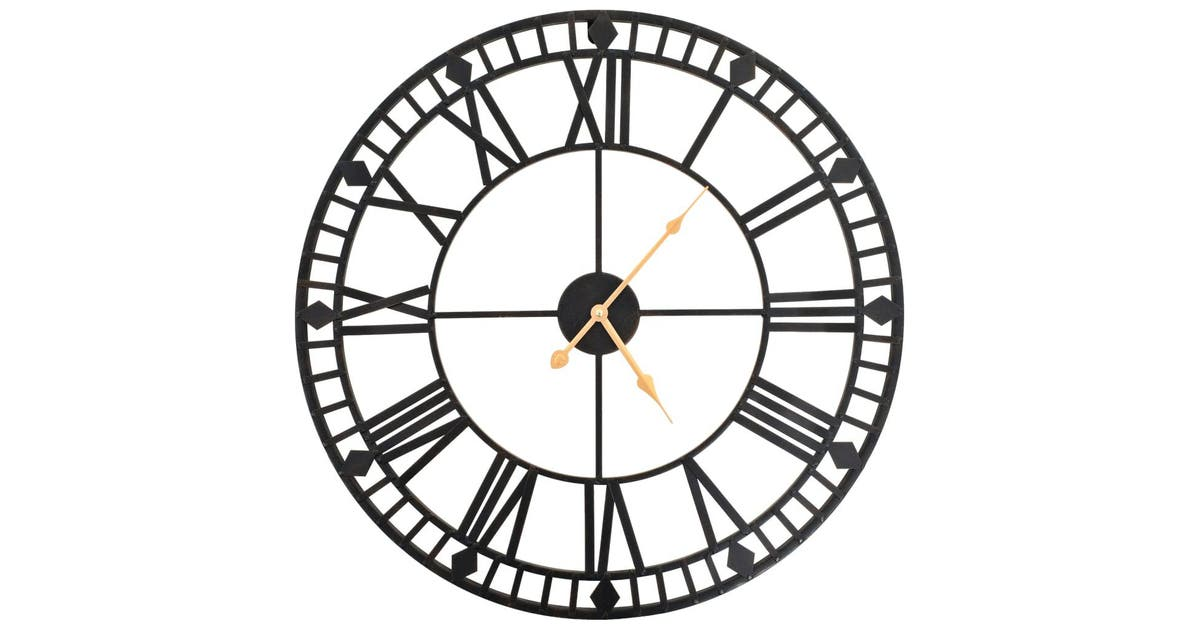 Vintage Wall Clock with Quartz Movement Metal 60 cm XXL