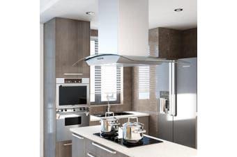 Island Range Hood 90 cm Stainless Steel 756 m³/h LED