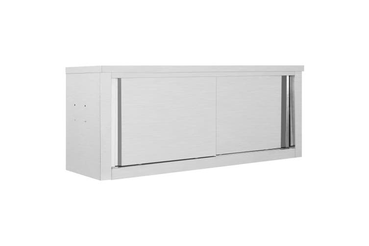 Kitchen Wall Cabinet with Sliding Doors 120x40x50 cm Stainless Steel
