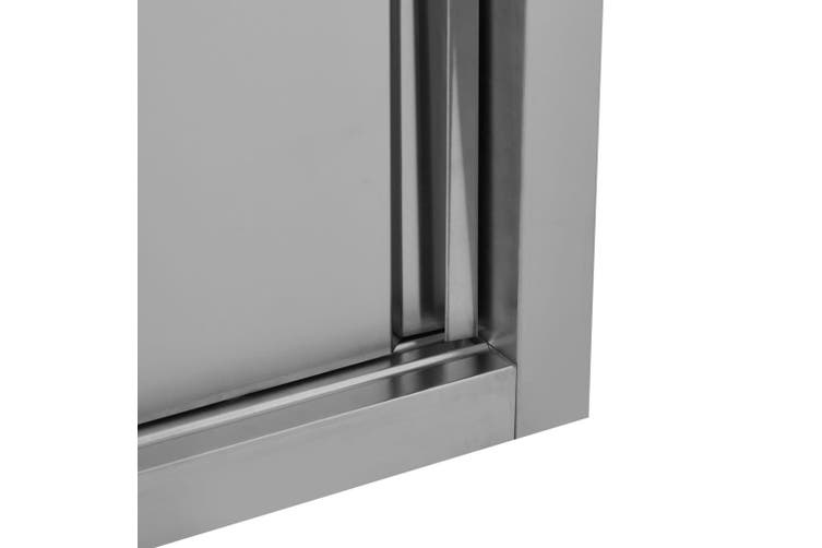 Kitchen Wall Cabinet with Sliding Doors 150x40x50 cm Stainless Steel