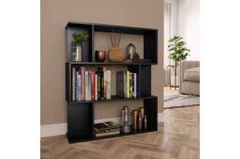 Book Cabinet/Room Divider Black 80x24x96 cm Chipboard