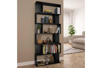 Book Cabinet/Room Divider Black 80x24x192 cm Chipboard