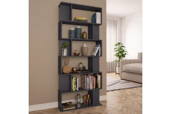 Book Cabinet/Room Divider Grey 80x24x192 cm Chipboard