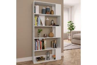 Book Cabinet/Room Divider White 80x24x159 cm Chipboard