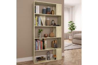 Book Cabinet/Room Divider Sonoma Oak 80x24x159 cm Chipboard