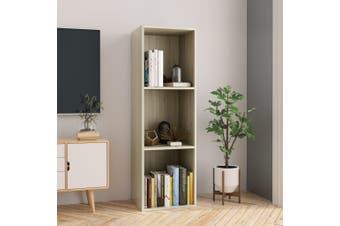 Book Cabinet/TV Cabinet Sonoma Oak 36x30x114 cm Chipboard