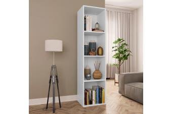 Book Cabinet/TV Cabinet White 36x30x143 cm Chipboard