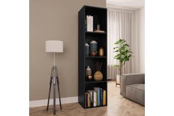 Book Cabinet/TV Cabinet Black 36x30x143 cm Chipboard