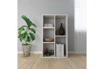 Book Cabinet/Sideboard White 45x25x80 cm Chipboard
