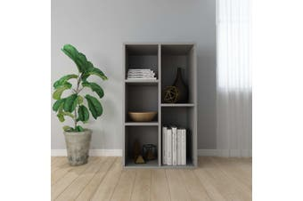 Book Cabinet/Sideboard Grey 45x25x80 cm Chipboard