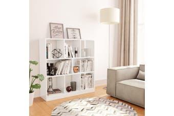 Book Cabinet High Gloss White 97.5x29.5x100 cm Chipboard