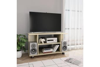 TV Cabinet with Castors Sonoma Oak 80x40x40 cm Chipboard