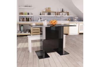 Dining Table High Gloss Black 110x60x75 cm Chipboard