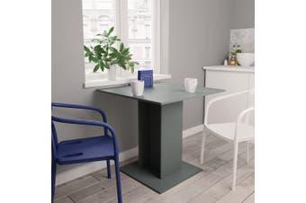 Dining Table Grey 80x80x75 cm Chipboard