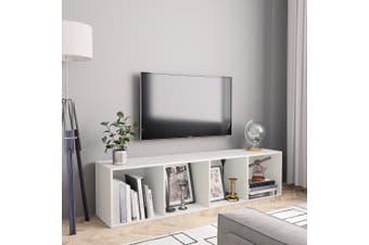 Book Cabinet/TV Cabinet White 143x30x36 cm