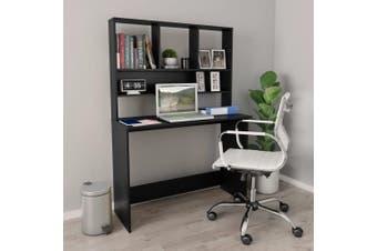 Desk with Shelves Black 110x45x157 cm Chipboard