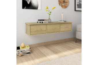 Wall-mounted Drawer Shelf Sonoma Oak 90x26x18.5 cm Chipboard