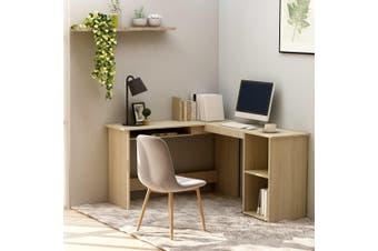L-Shaped Corner Desk Sonoma Oak 120x140x75 cm Chipboard