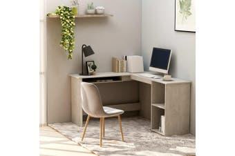L-Shaped Corner Desk Concrete Grey 120x140x75 cm Chipboard