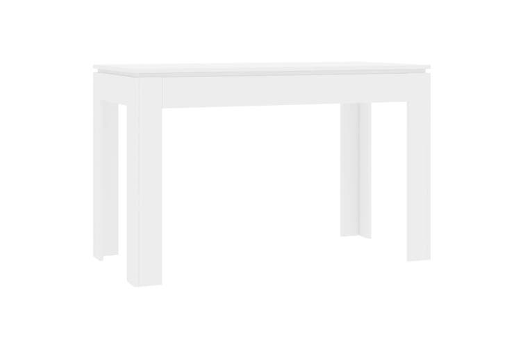 Dining Table High Gloss White 120x60x76 cm Chipboard