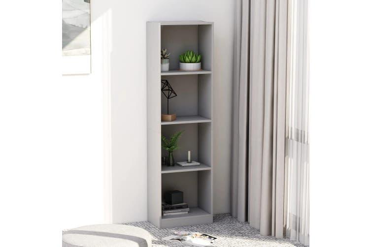 4-Tier Book Cabinet Grey 40x24x142 cm Chipboard